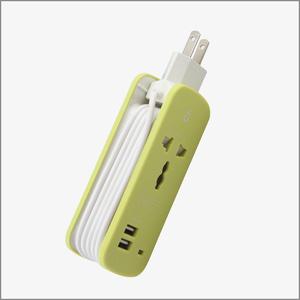 黑彩便携式旅行排插+USB充电器